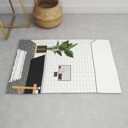 A minimal bathroom Rug