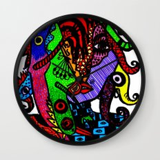 Lizard Princess Wall Clock
