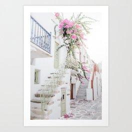 Greek Island Bliss Art Print