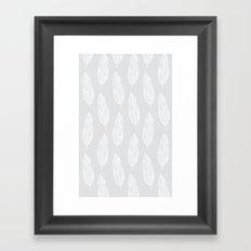 grey feather Framed Art Print