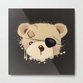 cute bear with eyepatch Metal Print