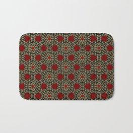Gorgeous Geometric Beadwork Pattern Bath Mat