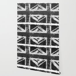 Black and white England Grunge flag Wallpaper