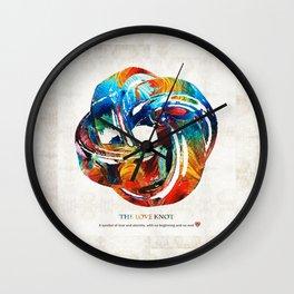 Romantic Love Art - The Love Knot - By Sharon Cummings Wall Clock