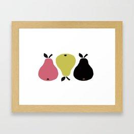 Retro Pears Framed Art Print