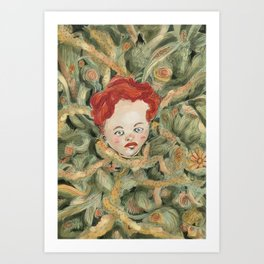 InRed Art Print