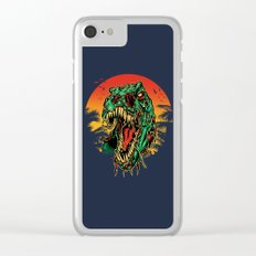 Zombie T-Rex Clear iPhone Case