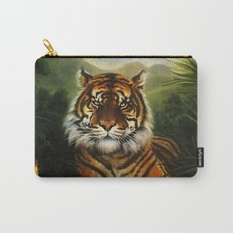 Jungle Tiger Landscape Carry-All Pouch