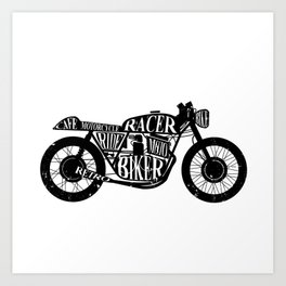 Cafe racer motorcycle Art Print