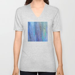 Edges of the Sky in Blues, Aquas and Green Unisex V-Neck