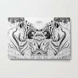Tiger mirror Metal Print