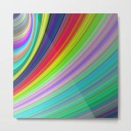 Rainbow Speed Metal Print