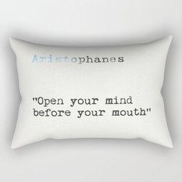 ARISTOPHANES QUOTE Rectangular Pillow