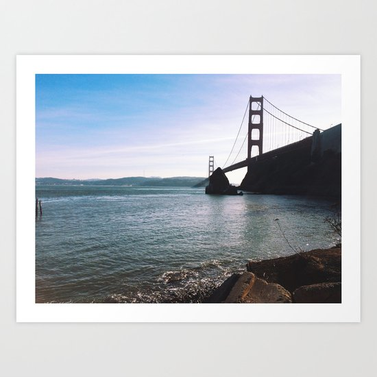 Golden Gate Bridge. Autumn 2013. Art Print