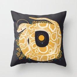 Familiar - Burmese Python Throw Pillow