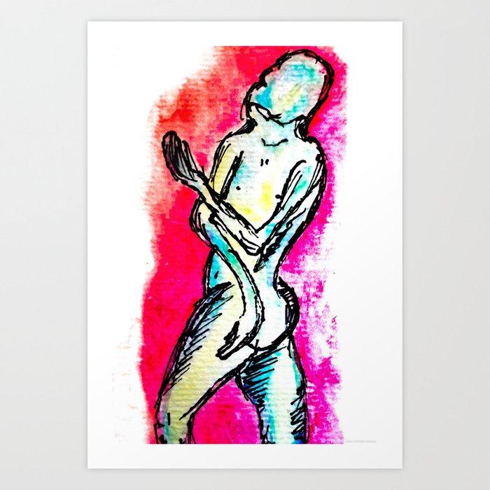 """""""Beggar"""" Art Print"""