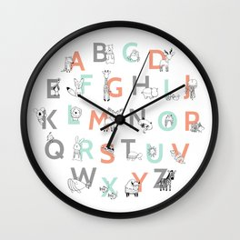 Animal Alphabet Wall Clock