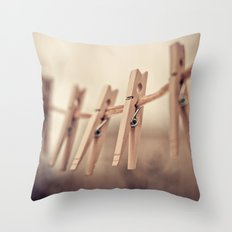 family of five Throw Pillow
