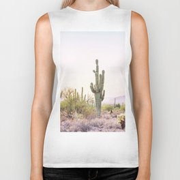 Cactus In The Desert Biker Tank