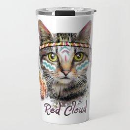 Boho cat illustration. Travel Mug