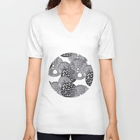 planets V-neck T-shirts featuring PLANETS by Mari