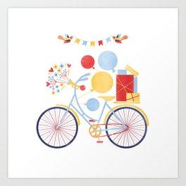 Party Bike Art Print
