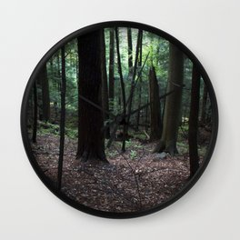 Down The Wooded Hill Wall Clock