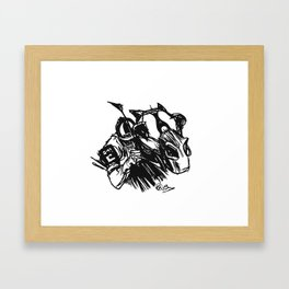 """On The Backstretch"" Hand-Drawn by Dark Mountain Arts Framed Art Print"