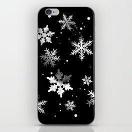 NOIR SNOWFLAKE PATTERN iPhone Skin