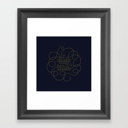 Your Attitude Determines Your Latitude Framed Art Print