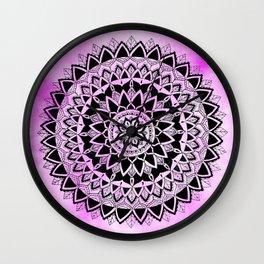 Purple Haze Mandala Wall Clock