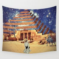 pyramid Wall Tapestries featuring Pyramid by Cs025