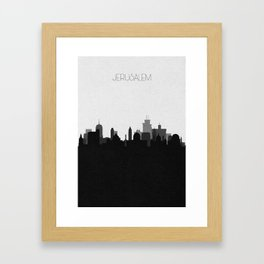 City Skylines: Jerusalem Framed Art Print