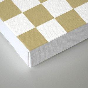 Checker (Sand/White) Canvas Print