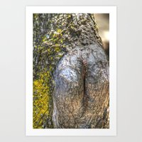 humor Art Prints featuring Tree Humor by Christia Caldwell Moody