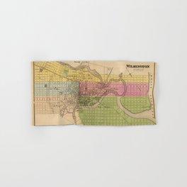 Map of Wilmington 1868 Hand & Bath Towel