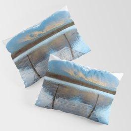 Lake reflections watercolor painting #2 Pillow Sham