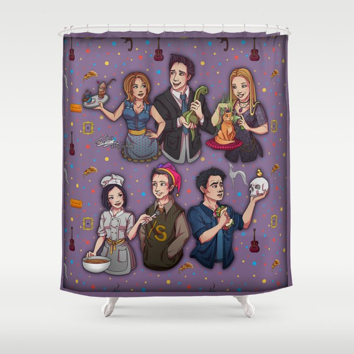 Friends TV Show   Monica Chandler Rachel Ross Phoebe Joey Shower Curtain