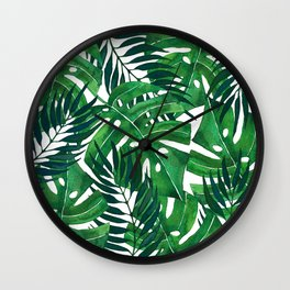 Jungle leaves Wall Clock