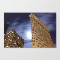 30 seconds to mars Canvas Prints featuring Flatiron Building/30 Seconds by Jonathan Hess
