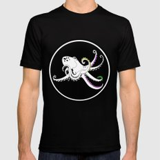 Octopus Black Mens Fitted Tee MEDIUM