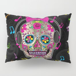 Sugar Skull Music Pillow Sham