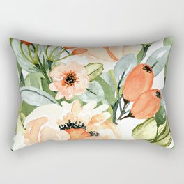 White Orchards Bouquet Rectangular Pillow