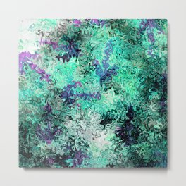 So Undecided, Abstract Art Swirls Pattern Metal Print