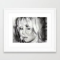 jennifer lawrence Framed Art Prints featuring Jennifer Lawrence by Papa-Paparazzi