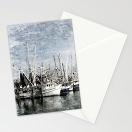 Shrimp Boats at the Pass Harbor Stationery Cards