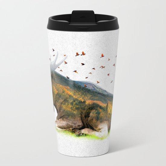 Wild I Shall Stay | Moose Metal Travel Mug