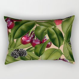 FRUITS AND LEAVES Rectangular Pillow