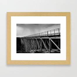 Metal and Sky Framed Art Print