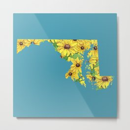 Maryland in Flowers Metal Print